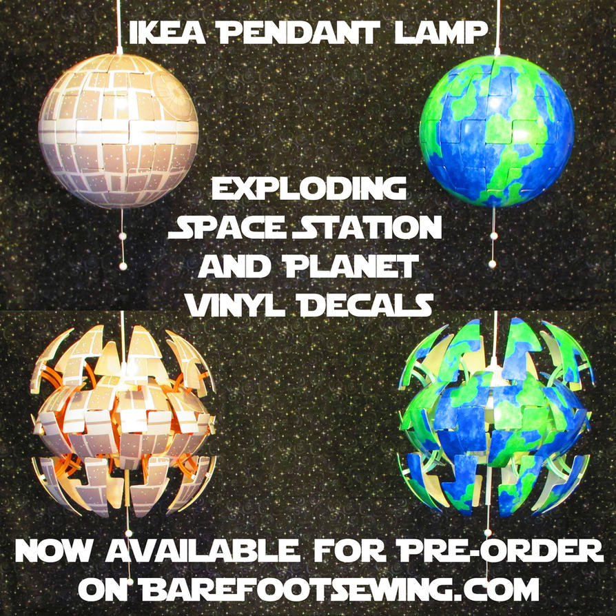 ikea 39 death star 39 lamp space station and planet by barefootsewing on deviantart. Black Bedroom Furniture Sets. Home Design Ideas