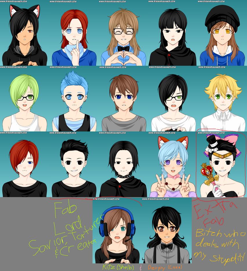 Anime Characters Generator : Oc army rinmaru mega anime avatar creator by