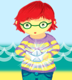 Little me v.2 paper boat by meep-buster