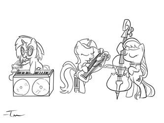 Lyra and the Harptones sketch by TanMansManTan