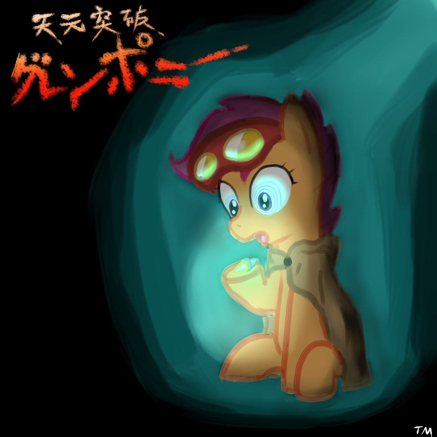 Scootaloo the Digger by TanMansManTan