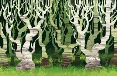 The Crooked Forest by IncuriousCat