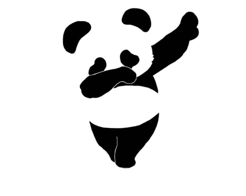 how to draw a dabing panda