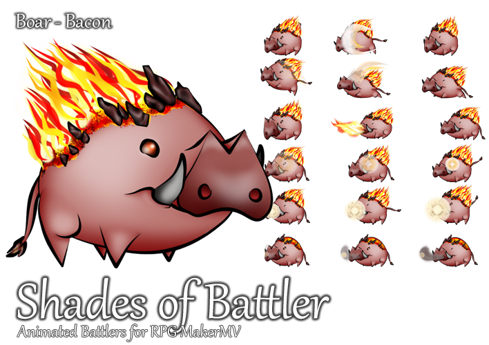 Preview Jp Rpg Maker Mv Update And New Characters: Boar: Bacon By ShadowHawkDragon On