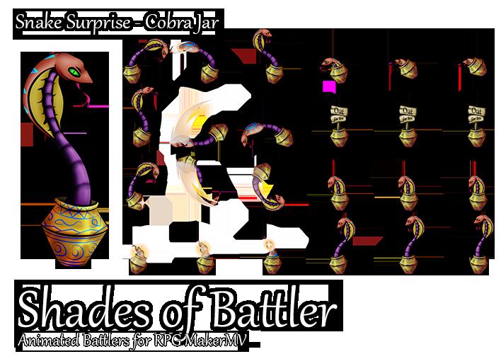 RPG Maker MV Battler - Snake Surprise - Cobra Jar by
