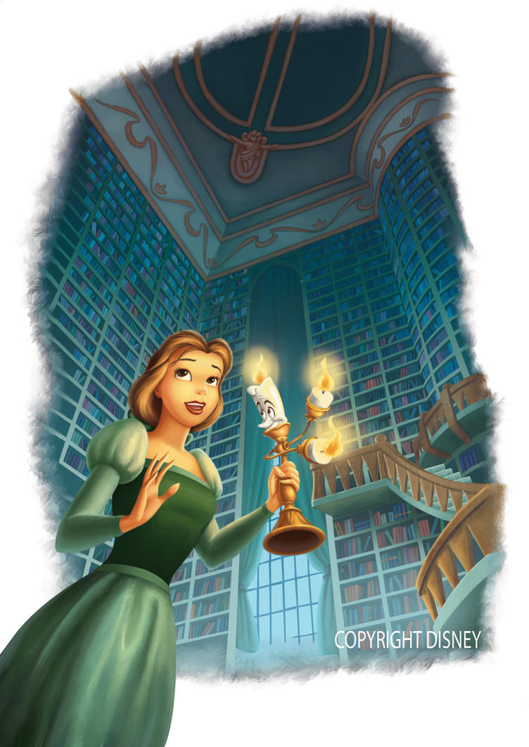 Belle in the Library by WilliamFenholt