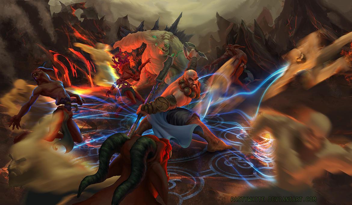 Diablo 3 Fanart Contest Monk Seven Sided Victory by WilliamFenholt