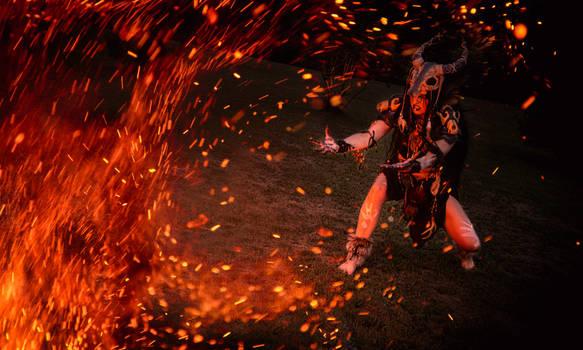shaman fire ritual