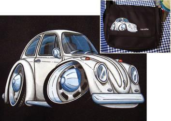Commission VW Bug ClipArt Bag by Sega-Club-Tikal