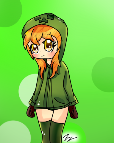 Creeper anime girl by rinka anne8 on deviantart - Anime creeper girl ...