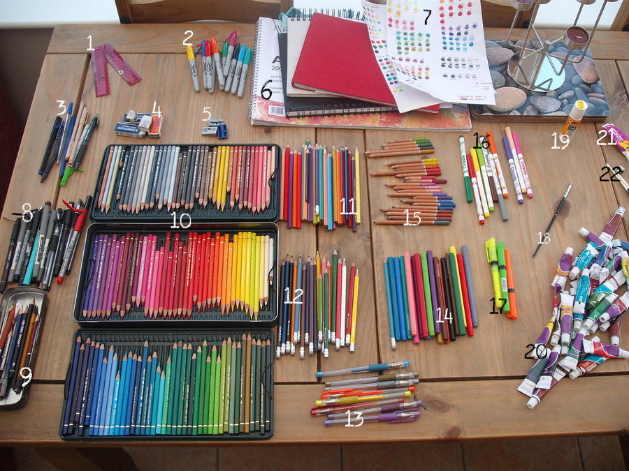 My Art Supplies by lumaeya on DeviantArt
