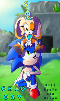 Chao Day with Sonic and Cream-Cover