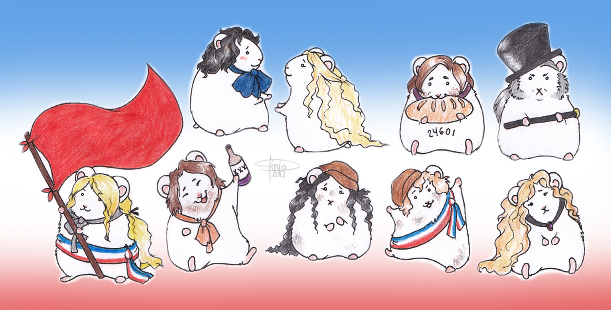 Les Mis Hamsters by PiippaB
