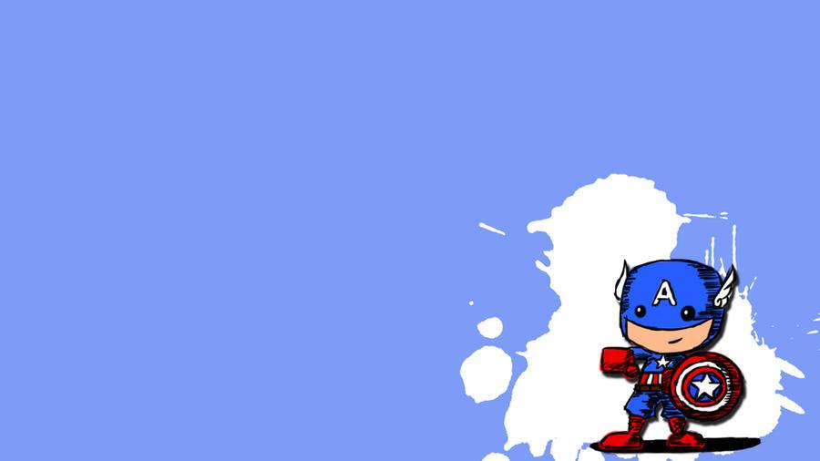 Chibi Captain America Wallpaper By CaptASweetheart