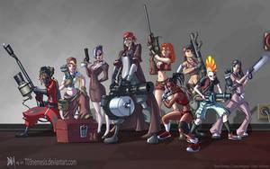 Team Fortress Fan Girls by T03nemesis