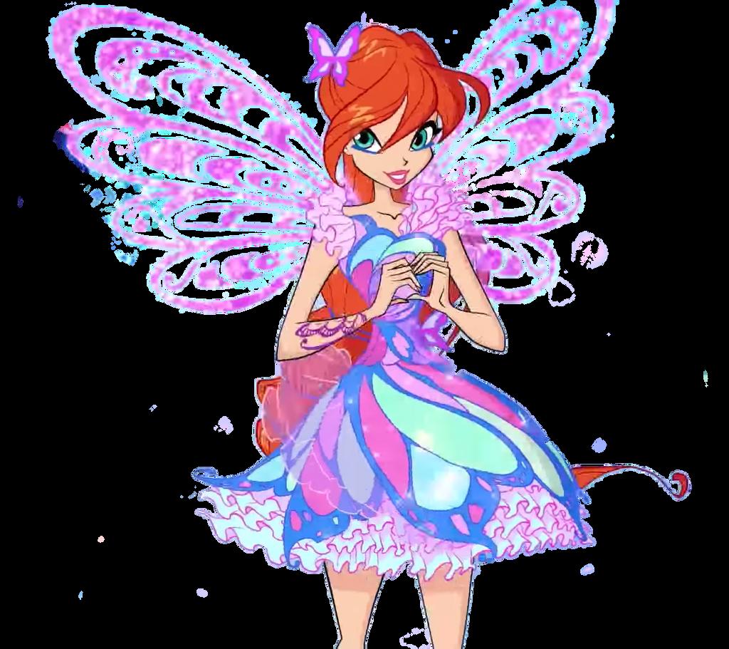 The Winx Club: Bloom Butterflix 7 season by ... Wow Face Clip Art