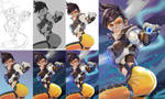 Step by step-Tracer by BillyCanvas
