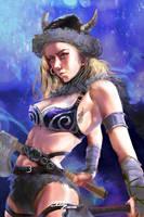 Viking girl-2 by BillyCanvas