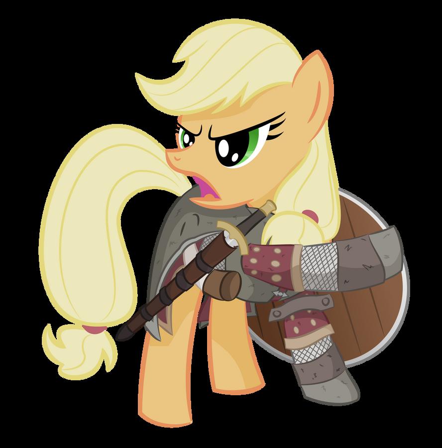 Applejack as Boromir by shadowdark3