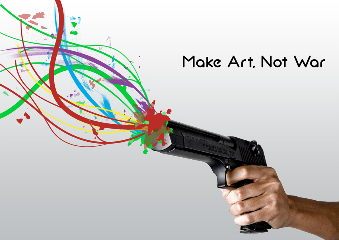 Make Art Not War by TheThemePark