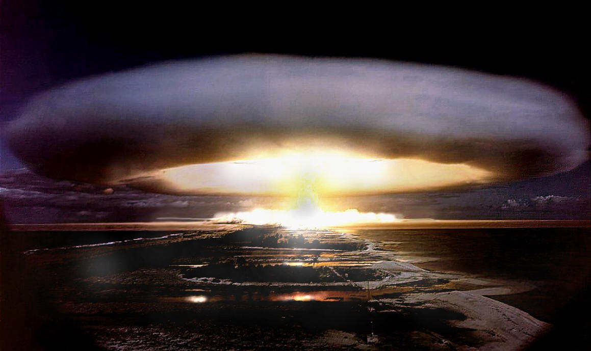 hydrogen bomb By the end of wwii, it was possible to build atomic bombs using fission (the  splitting of atoms) that could create explosions equal to several hundred tons of  tnt.