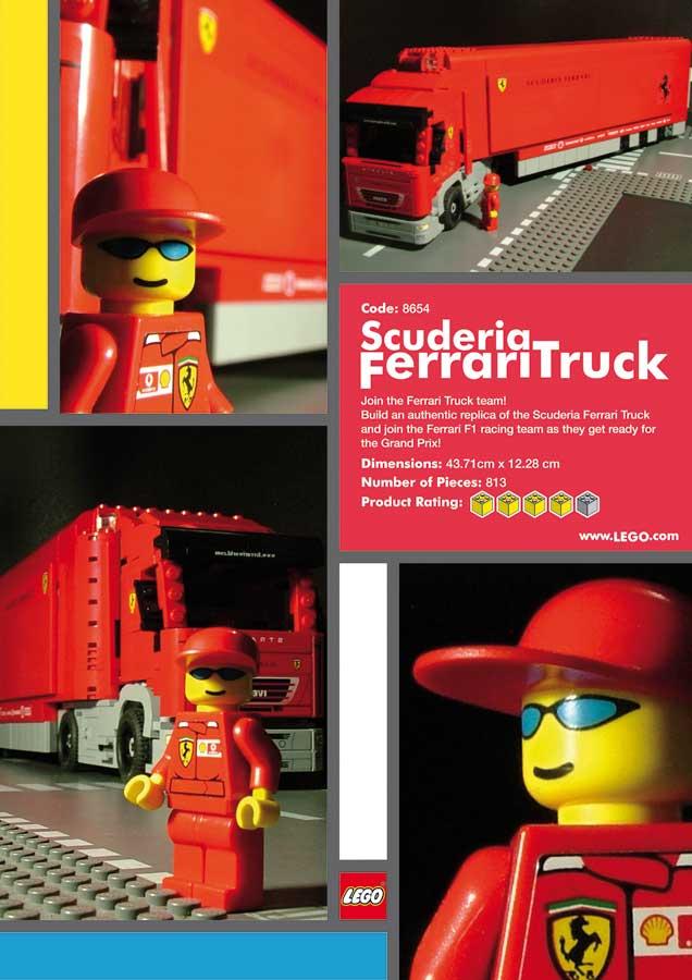 Lego Scuderia Ferrari Truck by curseofthemoon