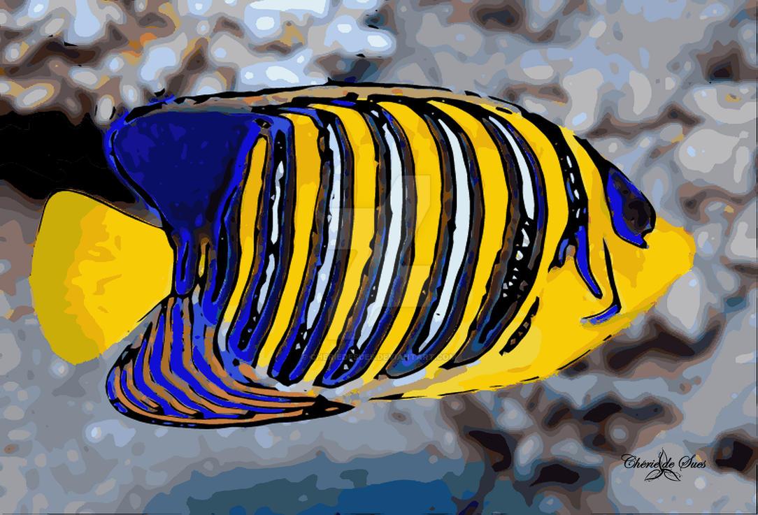 regal angelfish vexel STAMPED by cheriedesues