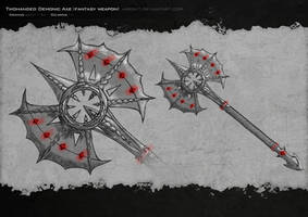 Twohanded Demonic Axe by Airon-T