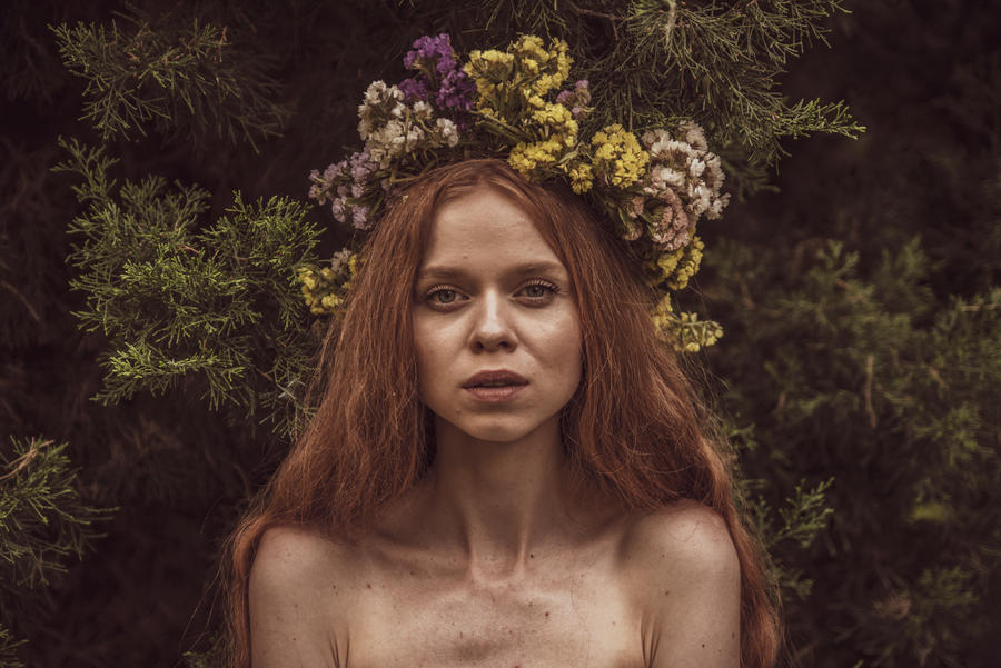 Sandra Slavic Girl by PiotrWdowka