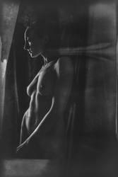 Nude in dark by PiotrWdowka