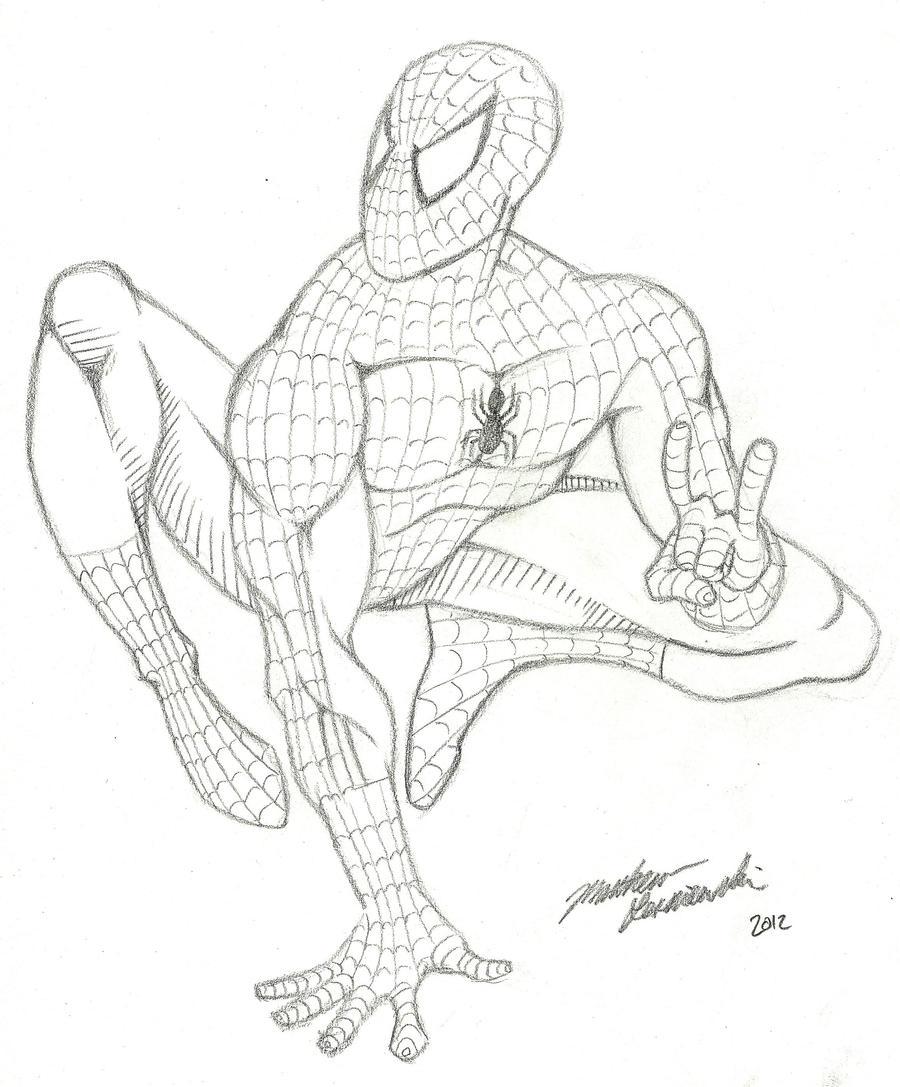 Spiderman Pencil Sketch By Sketchycreep On DeviantArt