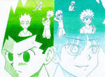 HXH character evolution color