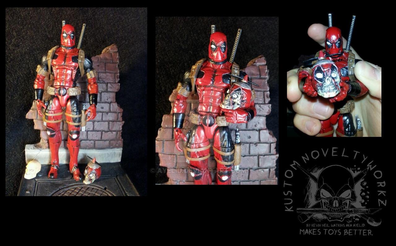 Custom marvel legends deadpool with headpool by ayelid on for Headpool