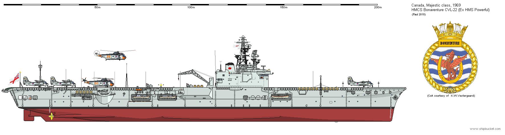 CA CVL22 Majestic Class Bonaventure-1969