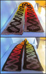Double Knitted DNA Scarf