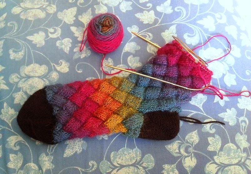 Entrelac Socks by AllSunday10