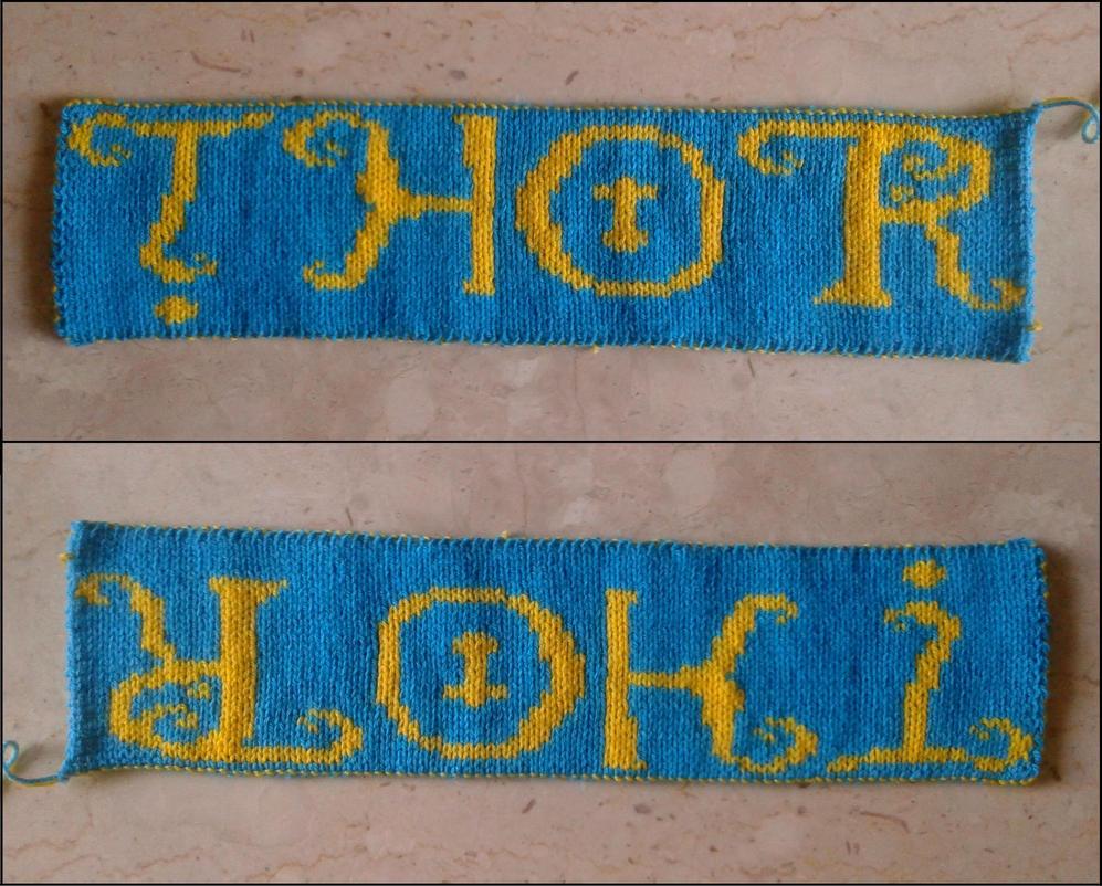 Thor/Loki Reversible Double Knit by AllSunday10