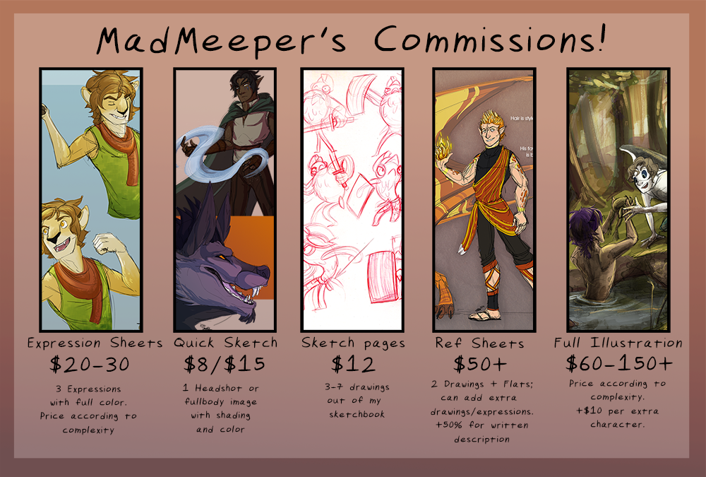 Commission info (Nov 2014) by MadMeeper