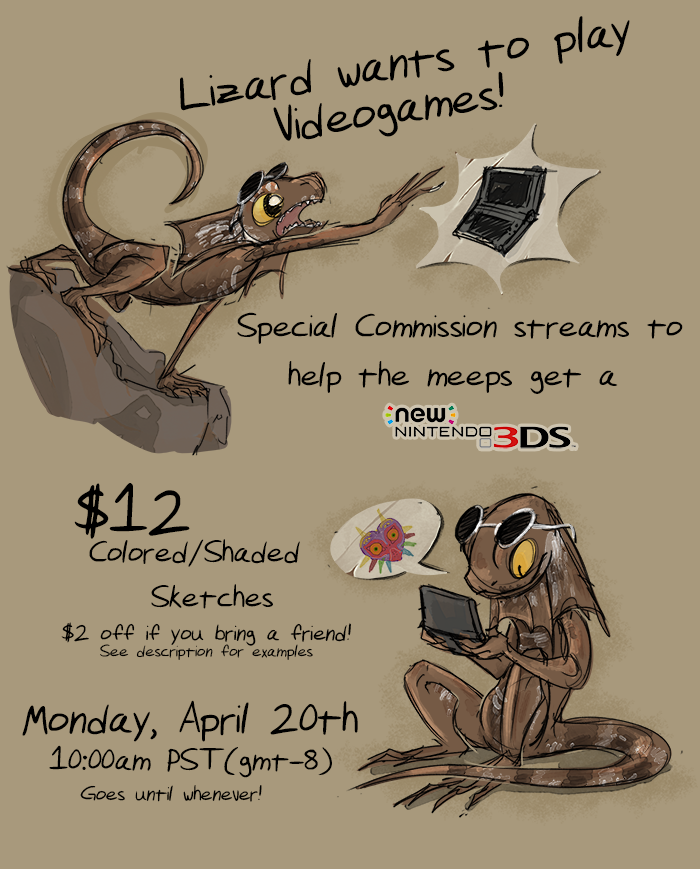 Livestream Commissions April 20th 10am! by MadMeeper