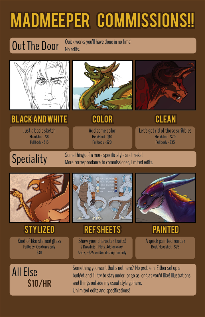 Commission Information! (July 2015) by MadMeeper