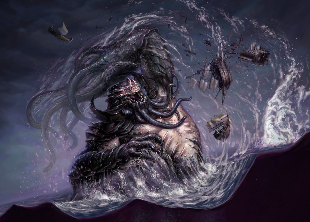 Giant sea monsters art - photo#42