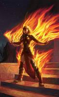 Chandra, Roaring Flame - Detail