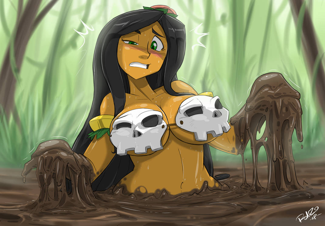 Hula Girl In Quicksand 3 By Shonuff44