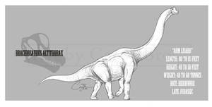 Brachiosaurus altithorax by BlueCea