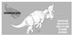 Pachyrhinosaurus lakustai by BlueCea
