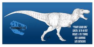 Tyrannosaurus rex by BlueCea
