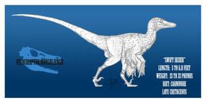 Velociraptor mongoliensis by BlueCea