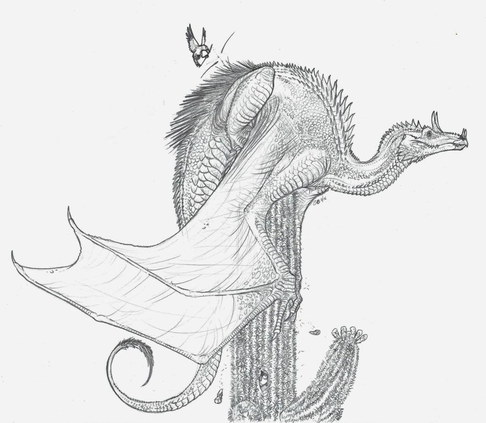 Desert Dragon by BlueCea