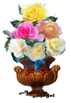 Roses for  my mother (transparent png) by AgnessAngel