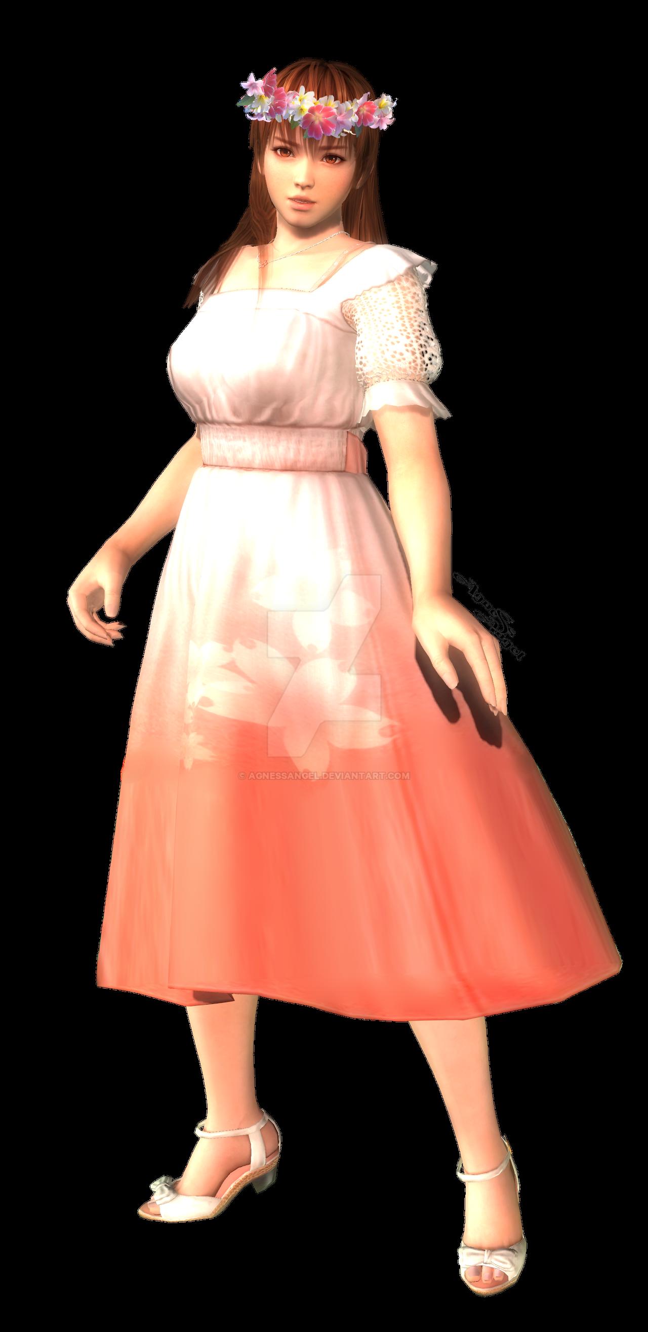 Kasumi in flower crown transparent png by AgnessAngel on DeviantArt